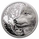 2021 Mongolia 1 oz Silver Proof Mystic Wolf