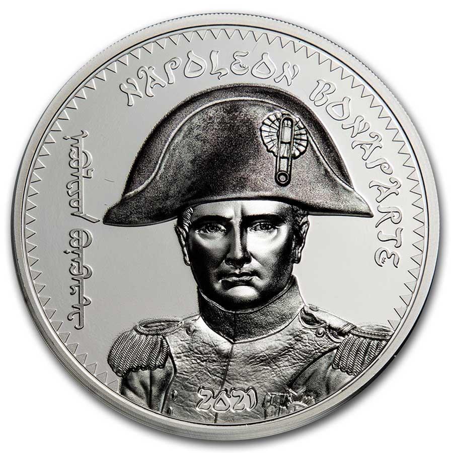 2021 Mongolia 1 oz Silver Revolutionaries (Napoleon Bonaparte)
