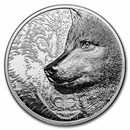 2021 Mongolia 2 oz Silver Black Proof Mystic Wolf