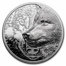 2021 Mongolia 3 oz Silver Proof Mystic Wolf