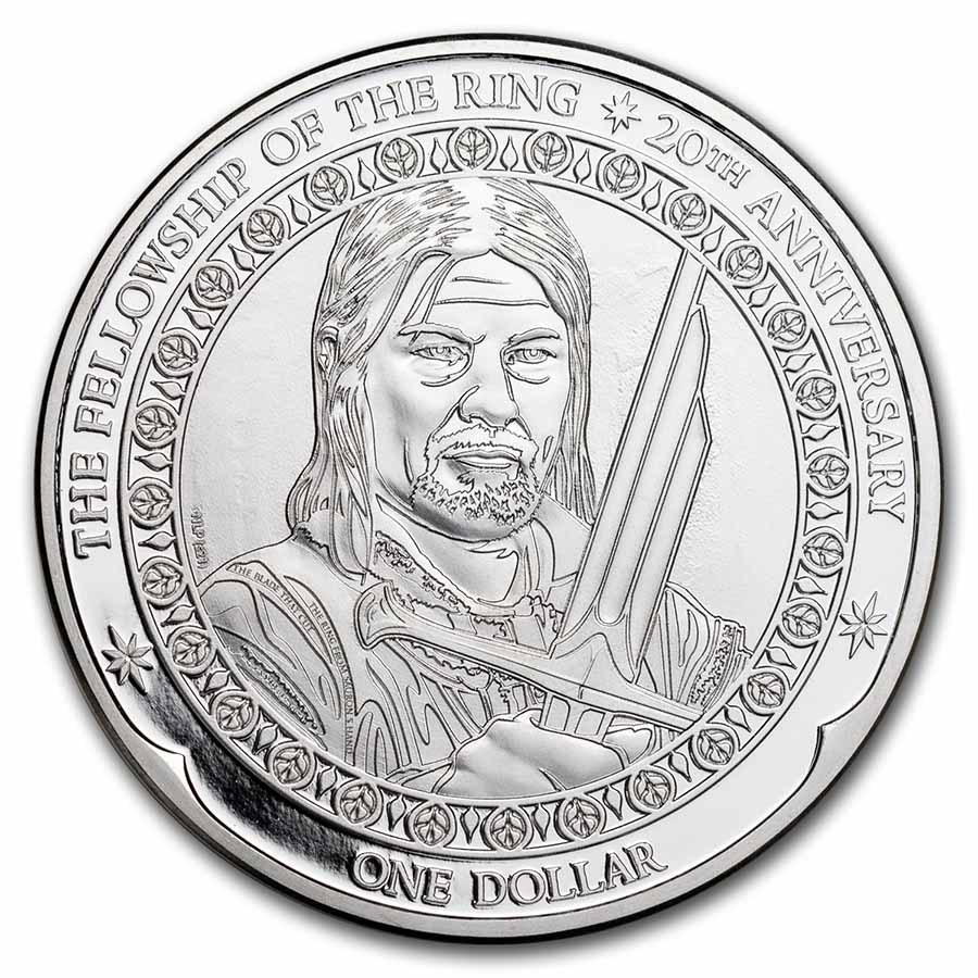 2021 N. Zealand 1 oz Silver 20th Anniv Lord of The Rings: Boromir