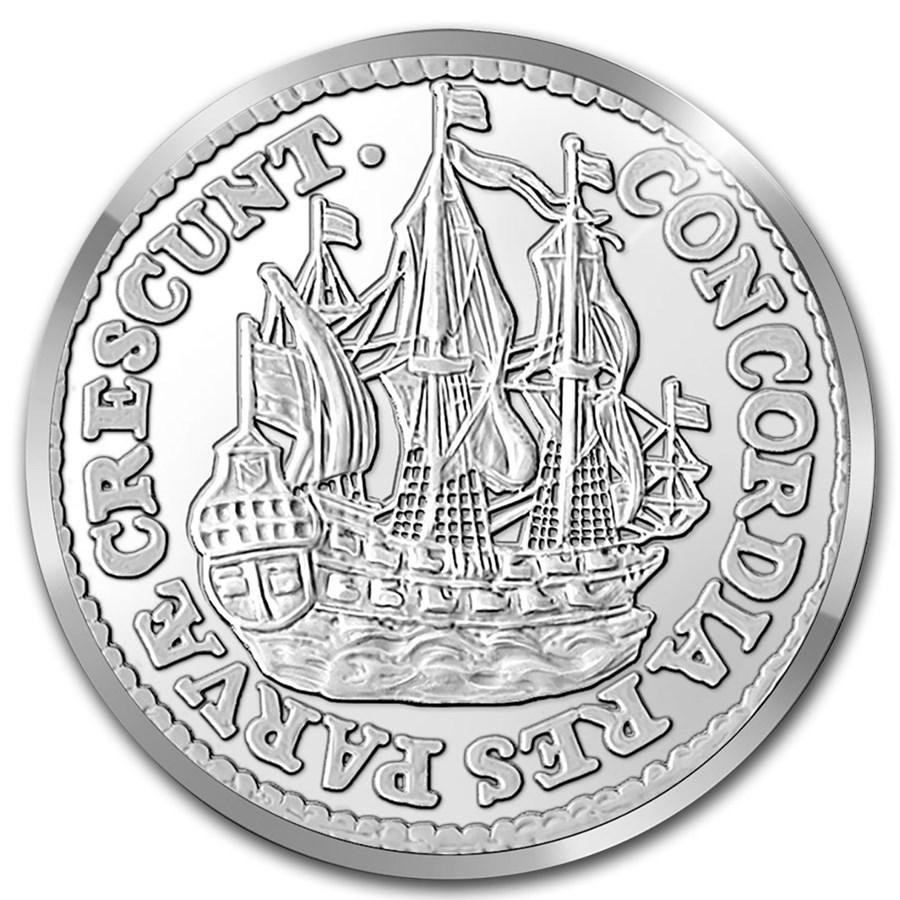2021 Netherlands 1 oz Silver Proof Ship Shilling (w/Box & COA)