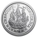 2021 Netherlands 1 oz Silver Ship Shilling Restrike BU