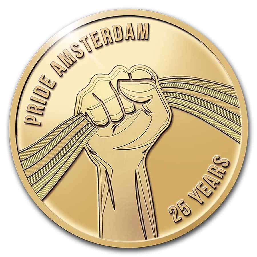 2021 Netherlands 2 oz Gold 25 Years of Pride Proof (w/Box)