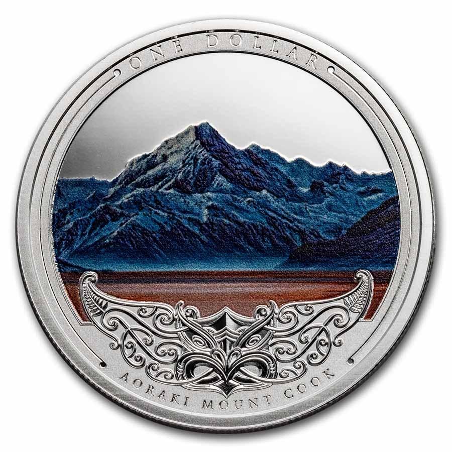 2021 New Zealand 1 oz Silver Discover New Zealand: Aoraki Mount