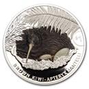 2021 New Zealand 1 oz Silver Kiwi Proof Color (w/Box & COA)