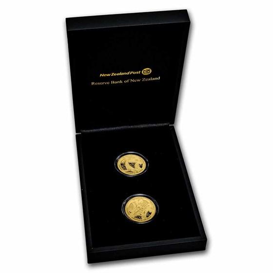 2021 New Zealand 2-Coin 1 oz Proof Gold Tangaroa Set
