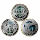 2021 New Zealand 3 Coin Silver Quest For The Ring Proof Set