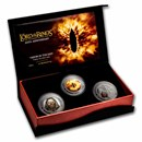 2021 New Zealand 3 Coin Silver Shadow In The East Proof Set