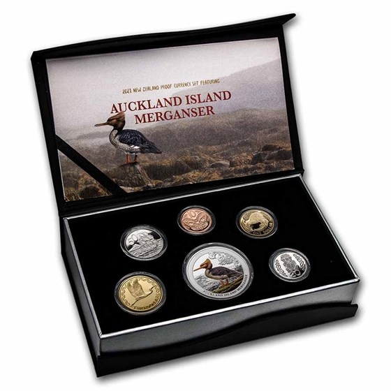 2021 New Zealand 6-Coin 1 oz Silver Currency Proof Set