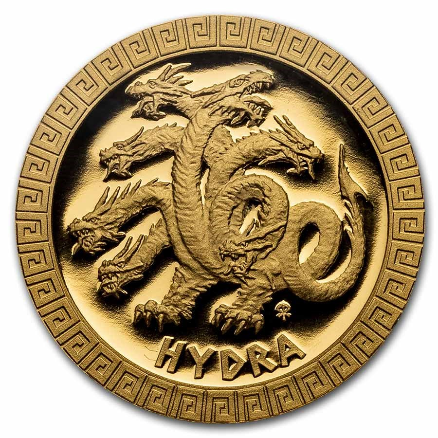 2021 Niue 1/10 oz Gold Proof Mythical Creatures: Hydra
