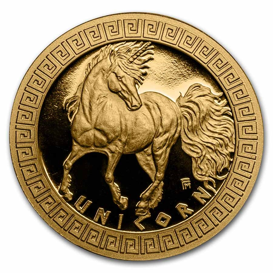 2021 Niue 1/10 oz Gold Proof Mythical Creatures: Unicorn