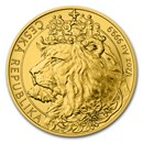 2021 Niue 1/2 oz Gold Czech Lion BU