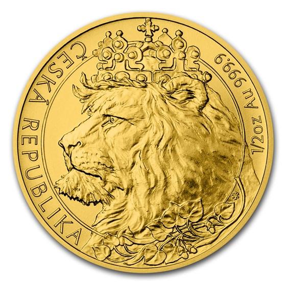2021 Niue 1/2 oz Gold Czech Lion BU