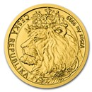 2021 Niue 1/25 oz Gold Czech Lion BU