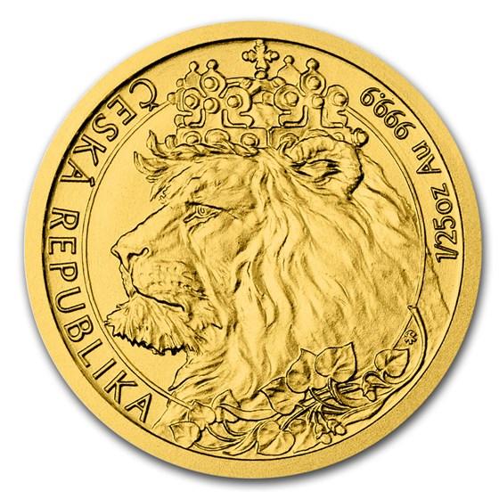2021 Niue 1/25 oz Gold Czech Lion BU