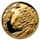 2021 Niue 1/4 oz Gold $25 Disney Beauty and the Beast 30th