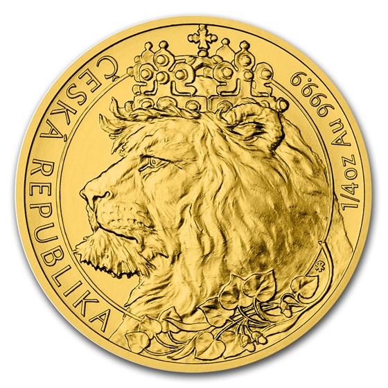 2021 Niue 1/4 oz Gold Czech Lion BU