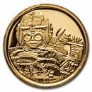 2021 Niue 1/4 oz Gold Star Wars Anakin Skywalker (Box & COA)