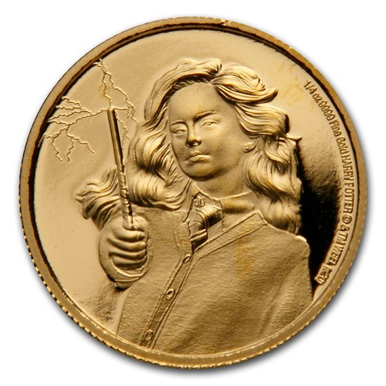 2021 Niue 1/4 oz Proof Gold Coin: Hermione Granger
