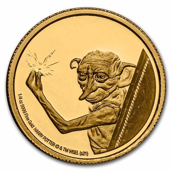 2021 Niue 1/4 oz Proof Gold: Dobby the House Elf