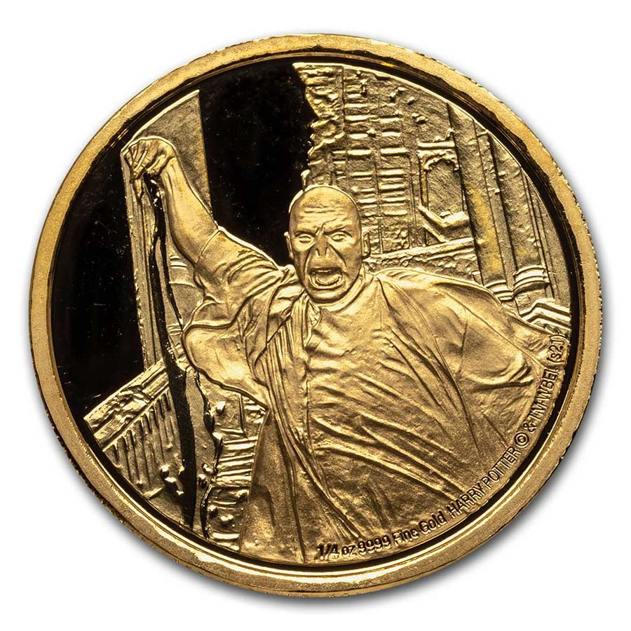 2021 Niue 1/4 oz Proof Gold: Lord Voldemort