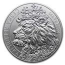 2021 Niue 1 kilo Silver Czech Lion BU