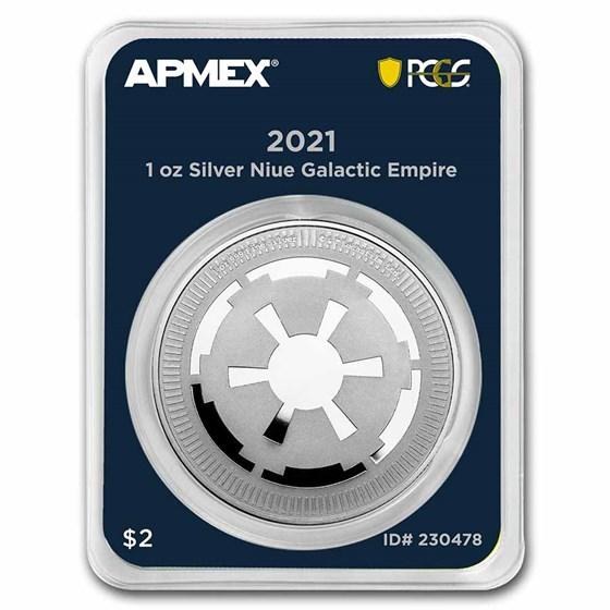 2021 Niue 1 oz Ag $2 Galactic Empire (MD® Premier + PCGS FS)
