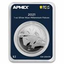 2021 Niue 1 oz Ag $2 Millennium Falcon (MD® Premier + PCGS FS)