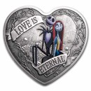 2021 Niue 1 oz Ag $2 Nightmare Before Christmas: Love is Eternal