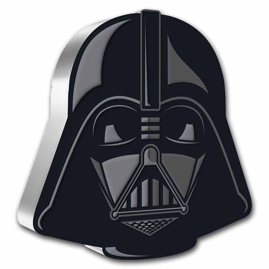 2021 Niue 1 oz Ag $2 Star Wars Faces of the Empire: Darth Vader
