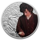 2021 Niue 1 oz Ag Coin $2 The Lord of the Rings: Frodo Baggins