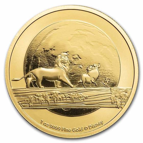 2021 Niue 1 oz Gold $250 Disney Lion King Hakuna Matata BU