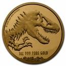 2021 Niue 1 oz Gold $250 Jurassic World BU Coin