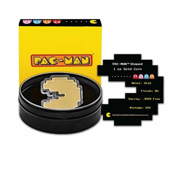 2021 Niue 1 oz Gold $250 PAC-MAN™ Shaped Coin