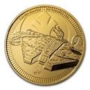2021 Niue 1 oz Gold $250 Star Wars: Millennium Falcon BU