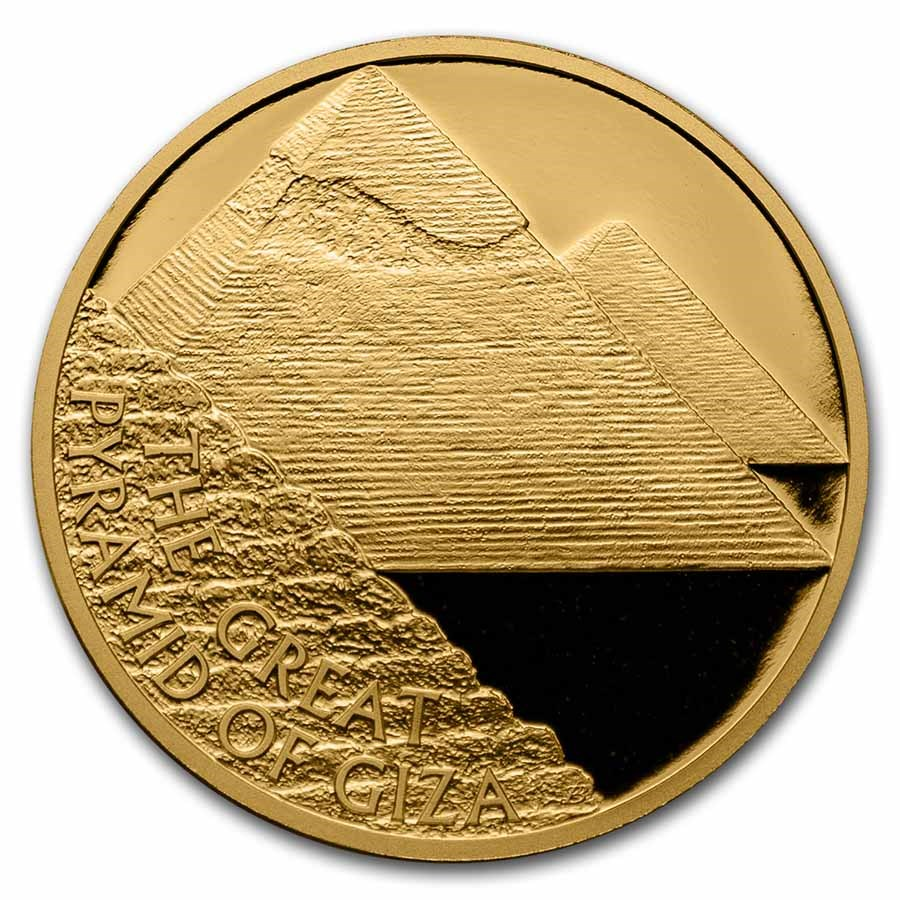 2021 Niue 1 oz Gold 7 Wonders of the World: Great Pyramid of Giza