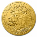 2021 Niue 1 oz Gold Czech Lion BU