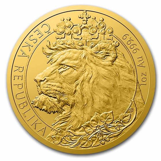 2021 Niue 1 oz Gold Czech Lion BU