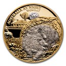 2021 Niue 1 oz Gold Proof Australia at Night (Wombat)