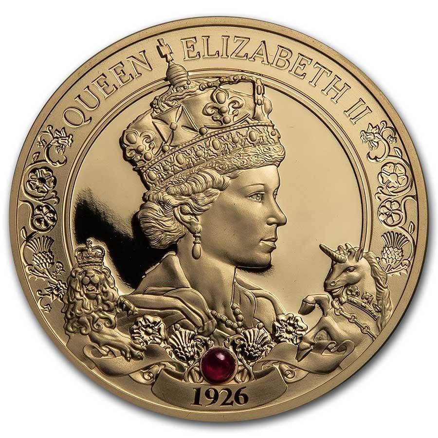 2021 Niue 1 oz Gold Proof Queen Elizabeth II 95th Birthday