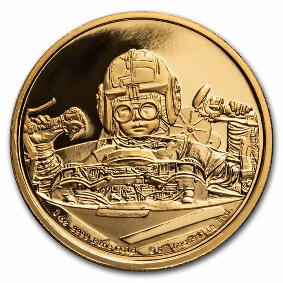 2021 Niue 1 oz Gold Star Wars Anakin Skywalker (Box & COA)
