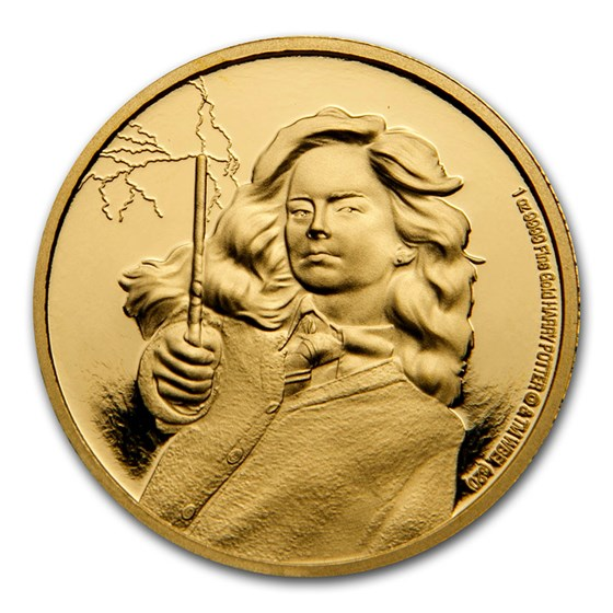 2021 Niue 1 oz Proof Gold Coin: Hermione Granger