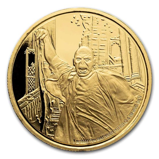 2021 Niue 1 oz Proof Gold Coin: Lord Voldemort