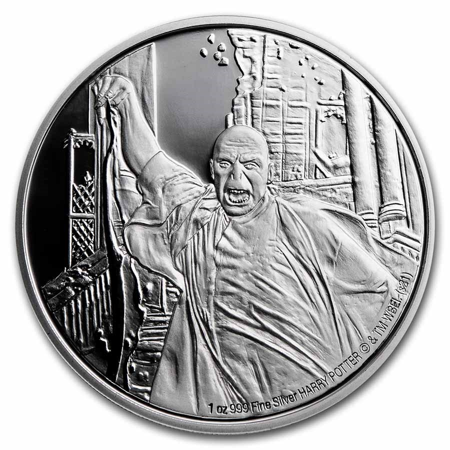 2021 Niue 1 oz Proof Silver: Lord Voldemort