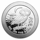 2021 Niue 1 oz Silver $2 Athenian Owl Stackable Coin