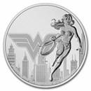 2021 Niue 1 oz Silver $2 DC Comics Justice League: Wonder Woman