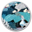 2021 Niue 1 oz Silver $2 Disney Alice in Wonderland