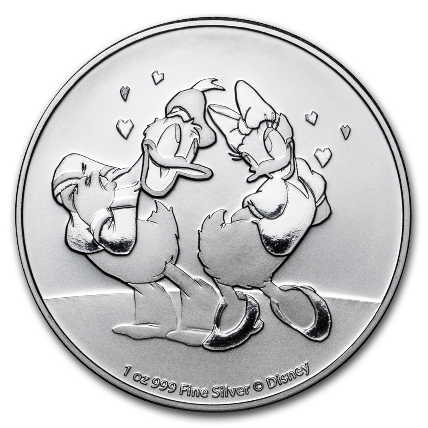 DISNEY DAISY AND DONALD LOVE CRAY COIN Silver Proof 2016 Niue $2-2017 #4753