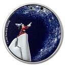2021 Niue 1 oz Silver $2 Disney Fantasia 80th Sorcerer Apprentice